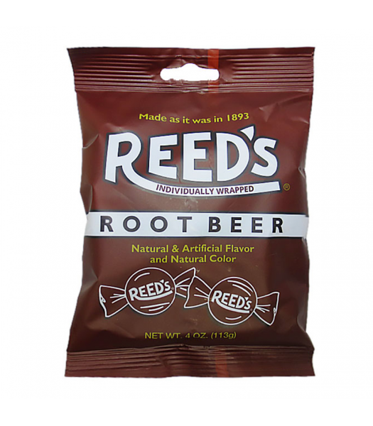 Reed's Root Beer Peg Bag - 4oz (113g) Sweets and Candy