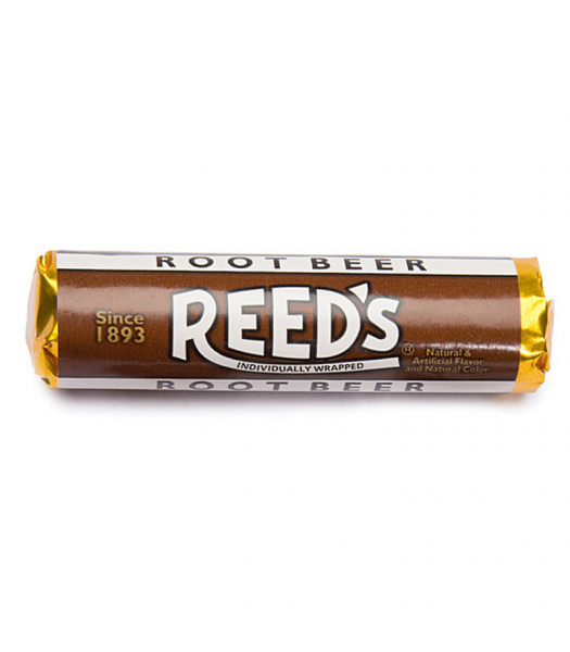 Reed's Root Beer Flavored Hard Candy Roll 1.01oz (29g) Hard Candy