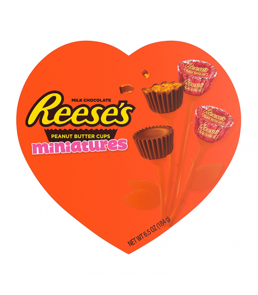 Reese's Peanut Butter Cups Miniatures Heart-Shaped Gift Box - 6.5oz (184g) [Valentine's] Sweets and Candy Reese's