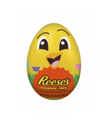 Reese's Miniature PB Cups Filled Plastic Chick 0.93oz (26g) Sweets and Candy Reese's