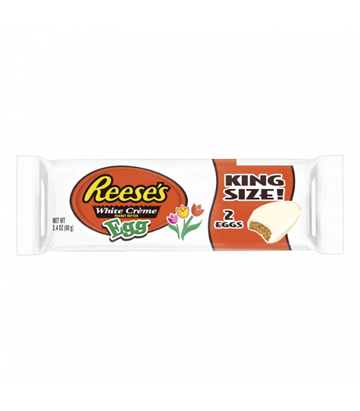 Reese's White Peanut Butter Egg King Size - 2.4oz (68g) Sweets and Candy Reese's