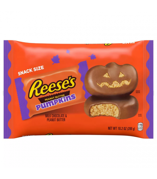 Reese's Snack Size Milk Chocolate Peanut Butter Pumpkins - 10.2oz (289g) Sweets and Candy Reese's