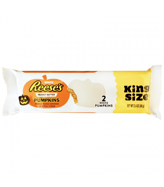 Reese's - White Chocolate Peanut Butter Pumpkins - 2.4oz (68g) [ Halloween Limited Edition ] Fall & Halloween Candy 2017 Reese's