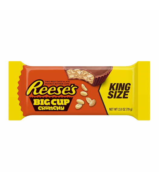 Clearance Special - Reese's Peanut Butter Cup Crunchy King Size 2.8oz (79g) ** Best Before: March 2018 ** Clearance Zone