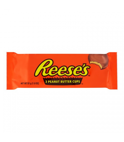 Reese's Peanut Butter Cups - 3 Pack (51g) Chocolate, Bars & Treats Reese's