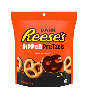 Reese's Dark Chocolate Dipped Pretzels - 8.5oz (240g) Chocolate, Bars & Treats Reese's