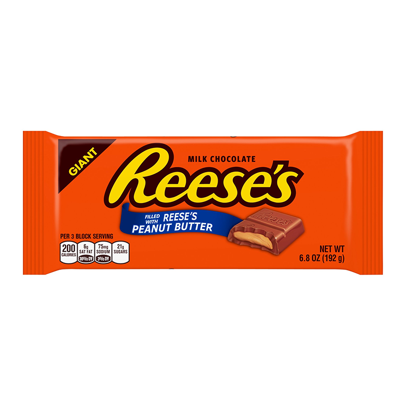 Reeses Peanut Butter Giant Bar 68oz 192g