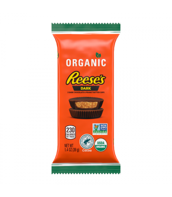 Reese's Organic Special Dark Chocolate Peanut Butter Cup Bar - 1.4oz (39g) Sweets and Candy Reese's