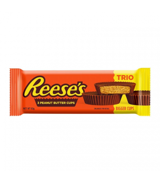 Reese's Peanut Butter 3 Bigger Cups - 63g Sweets and Candy Reese's