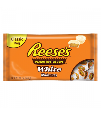 Clearance Special - Reeses White Peanut Butter Cup Miniatures 12oz Bag ** Damaged **