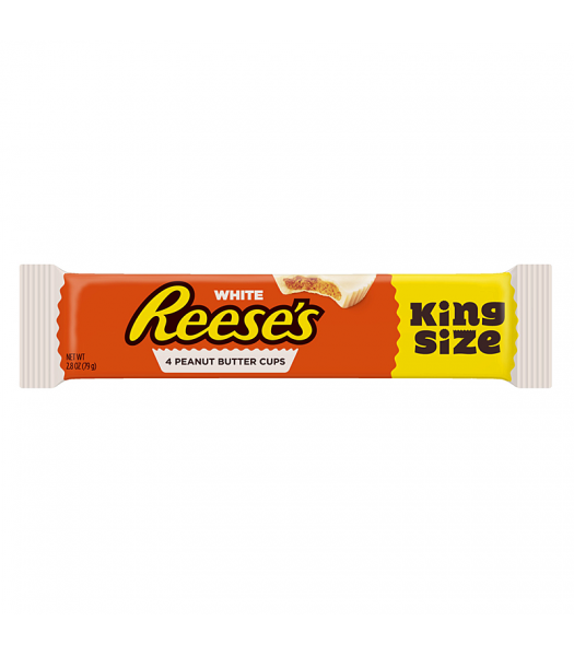 Reese's White Peanut Butter 4 Cups King Size 2.8oz (79g) Chocolate, Bars & Treats Reese's