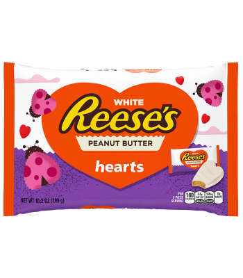 Clearance Special - Reese's White Peanut Butter Hearts 10.2oz (289g) ** Best Before: November 2016 ** Clearance Zone