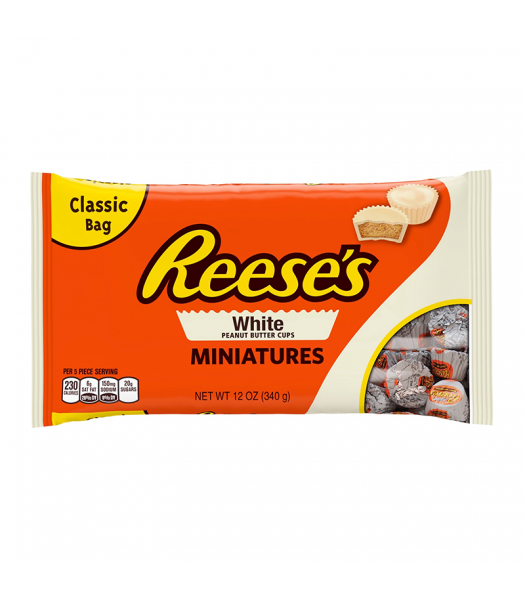 Reese's Peanut Butter Cups White Miniatures - 12oz (340g) Chocolate, Bars & Treats Reese's