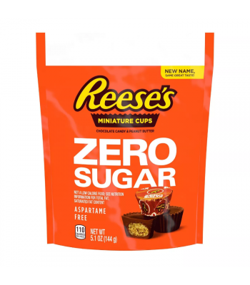 Reese's Zero Sugar Peanut Butter Cup Mini's - 5.1oz (144g) Sweets and Candy Reese's