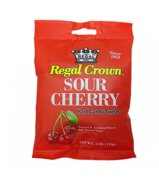 Regal Crown Sour Cherry Peg Bag - 4oz (113g) Sweets and Candy