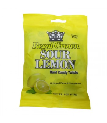 Regal Crown Sour Lemon Peg Bag - 4oz (113g) Sweets and Candy