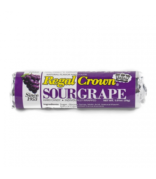 Regal Crown Sour Grape Roll 1.01oz Sweets and Candy