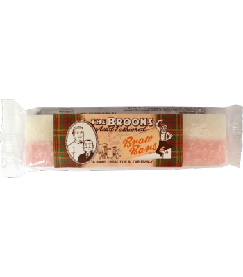 Clearance Special - The Broons Auld Fashioned Coconut Ice Nougat Bar 130g **Damaged** Clearance Zone