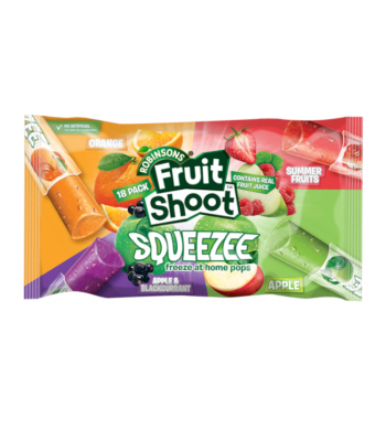 Robinson Fruit Shoot Squeezee Freeze Pops 18-Pack (18 x 30ml pops) Freezer Bars Rose Marketing