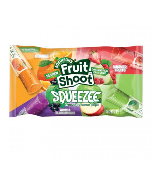 Robinson Fruit Shoot Squeezee Freeze Pops 18-Pack (18 x 30ml pops) Freezer Bars Rose Marketing