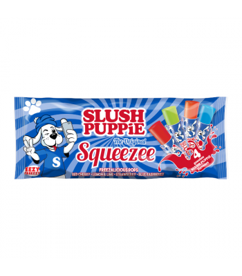 Slush Puppie Squeezee Fruit Flavour Freeze Pop 10PK - 60ml Sweets and Candy Rose Marketing
