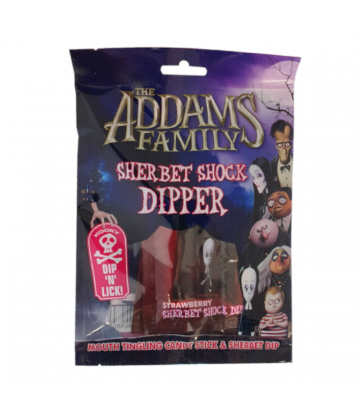 The Addams Family  Sherbet Shock Dipper - 84g Sweets and Candy Rose Marketing