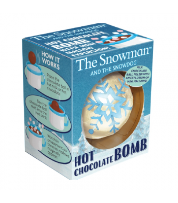 The Snowman and The Snowdog Hot Chocolate Bomb - 45g Sweets and Candy Rose Marketing