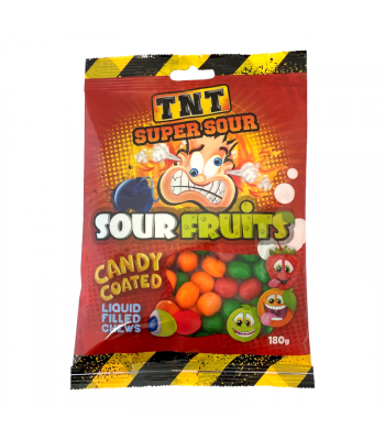 TNT Super Sour Fruits Peg Bag - 150g Sweets and Candy Rose Marketing