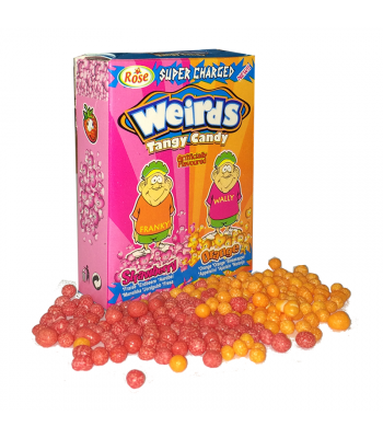 Clearance Special - Weirds Tangy Candy - Orange & Strawberry - 30g  ** Best Before: 31st May 2018 ** Clearance Zone