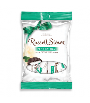 Russell Stover Dark Chocolate Mint Patties 3oz (85g) Sweets and Candy Russell Stover