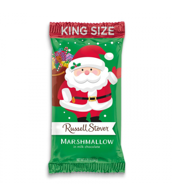 Russell Stover Milk Chocolate Marshmallow Santa 2.25oz (64g) Sweets and Candy