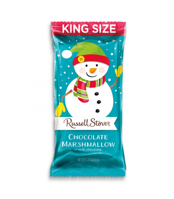 Russell Stover Milk Chocolate Marshmallow Snowman 2.25oz (64g) Sweets and Candy