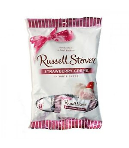 Russell Stover Strawberry Cremes in White Fudge 2.95oz - 10CT Sweets and Candy