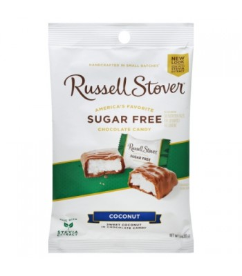 Russell Stover Sugar Free Milk Chocolate Coconut Patties 1.5oz (42g) Sweets and Candy