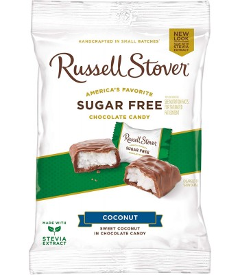 Russell Stover Sugar Free Milk Chocolate Coconut Patties 3oz (85g) Sweets and Candy Russell Stover