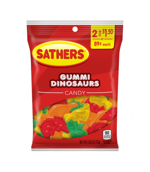 Sathers Gummi Dinosaurs - 2.65oz (779g) Sweets and Candy Sathers