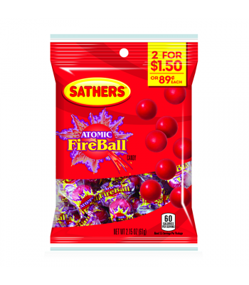 Sathers Atomic Fireball 2.15oz (61g) Sweets and Candy Sathers