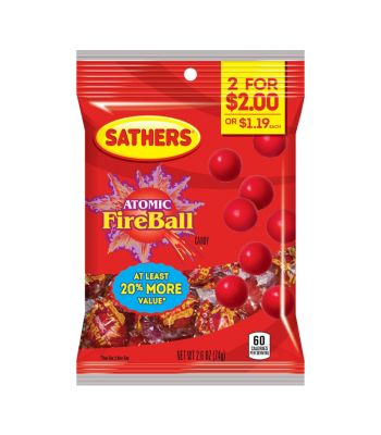 Sathers Atomic Fireballs - 2.6oz (73g) Sweets and Candy Sathers