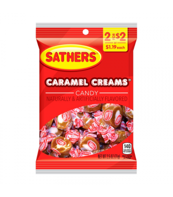 Sathers Caramel Creams - 2.5oz (71g) Sweets and Candy Sathers