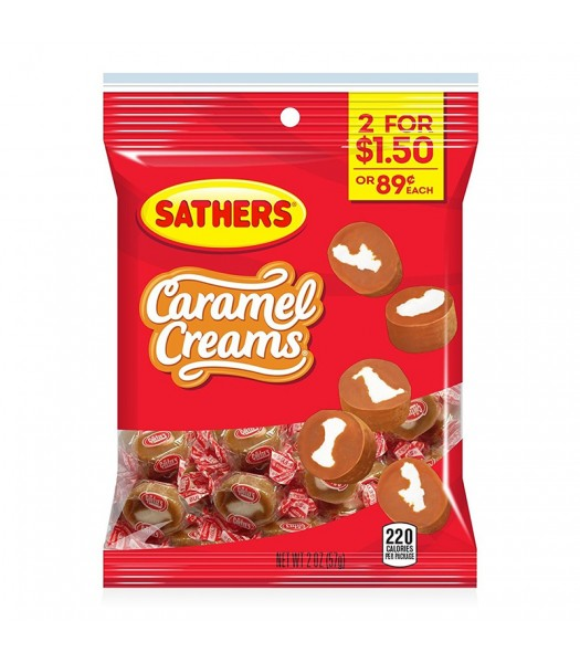 Sathers Caramel Creams - 2oz (57g) Sweets and Candy Sathers