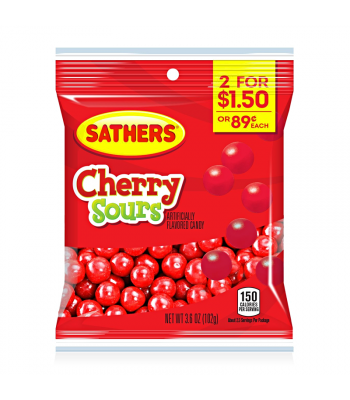 Sathers Cherry Sours 3.6oz (102g) Sweets and Candy Sathers