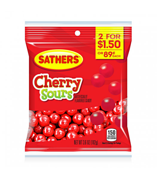 Sathers Cherry Sours 3.6oz (102g) Sweets and Candy