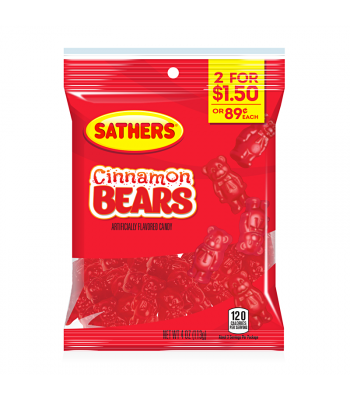 Sathers Cinnamon Bears 4oz (113g) Sweets and Candy Sathers
