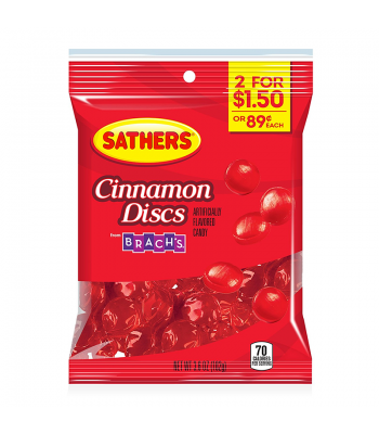 Sathers Cinnamon Discs - 3.6oz (102g) Sweets and Candy Sathers