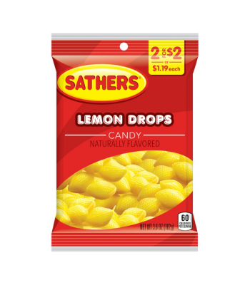 Sathers Lemon Drops - 3.6oz (102g) Sweets and Candy Sathers