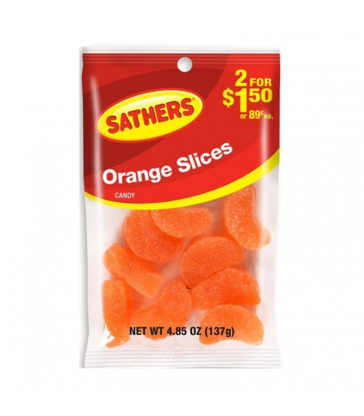 Sathers Orange Slices - 4.85oz (137g) Sweets and Candy Sathers