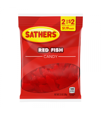 Sathers Red Fish - 3.5oz (99g) Sweets and Candy Sathers