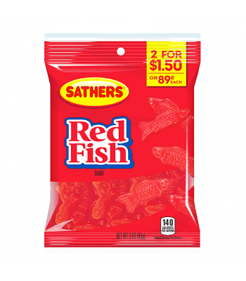 Sathers Red Fish 3oz (85g) Sweets and Candy Sathers