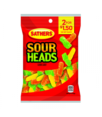 Sathers Sour Heads 3oz (85g) Sweets and Candy Sathers