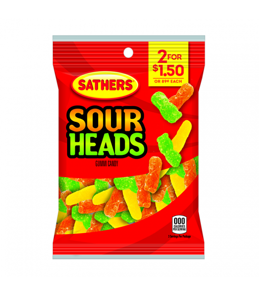 Sathers Sour Heads 3oz (85g) Sweets and Candy